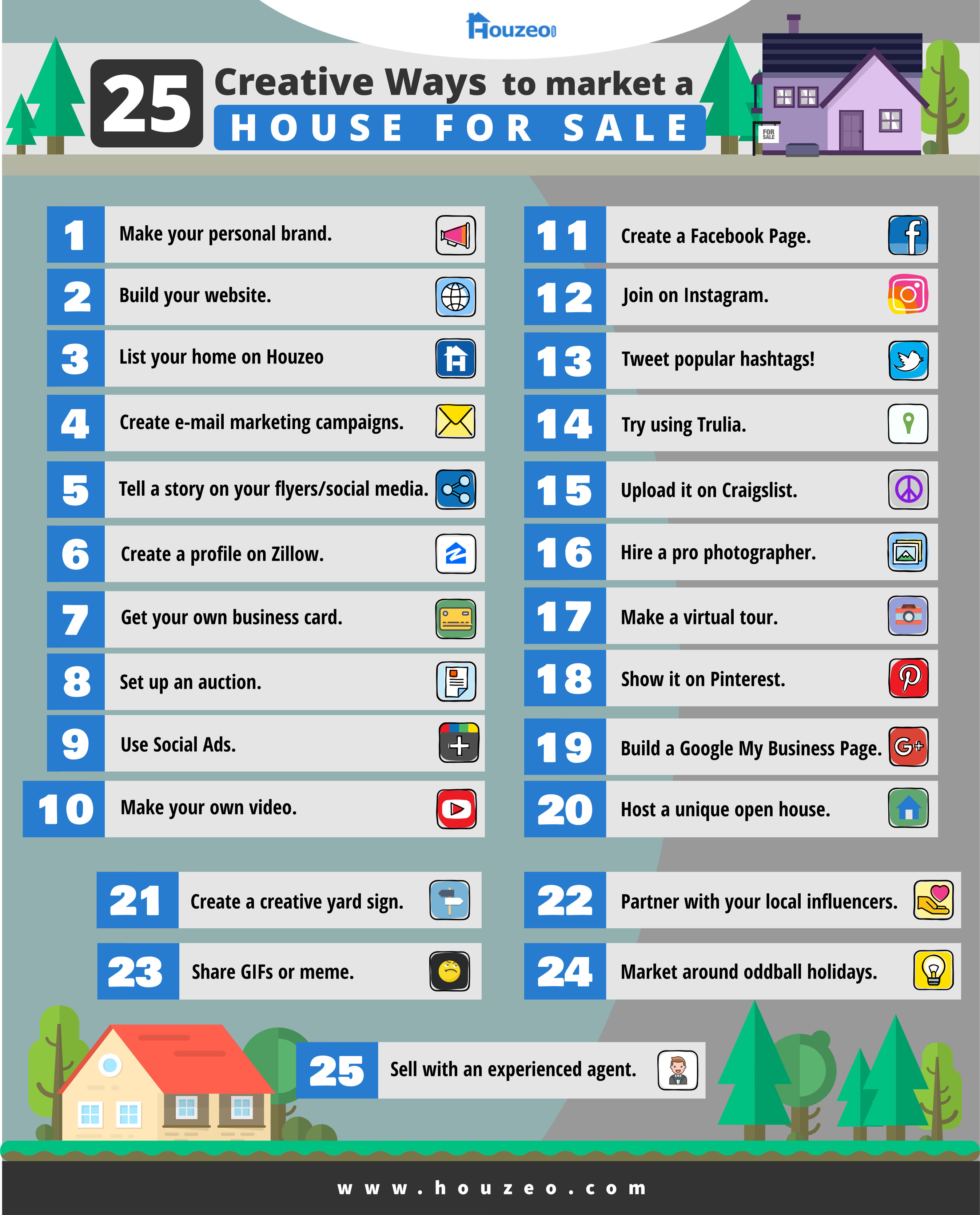Infographics Creative Ways to Market a House for Sale