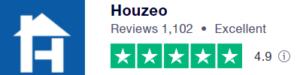 Houzeo Ratings on Trustpilot